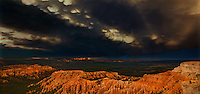 904000014 a panoramic view of the hoodoos and spectacular cloud formations during a monsoon summer thunderstorm in bryce canyon national park utah united states