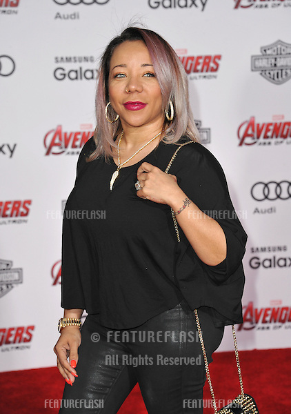 """Tameka """"Tiny"""" Cottle-Harris at the world premiere of """"Avengers: Age of Ultron"""" at the Dolby Theatre, Hollywood.<br /> April 13, 2015  Los Angeles, CA<br /> Picture: Paul Smith / Featureflash"""