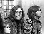 John Lennon 1968 with Julian Lennon and Eric Clapton at the Rolling Stones Rock & Roll Circus