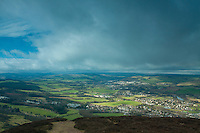 Melrose and the River Tweed from Eildon Hill North