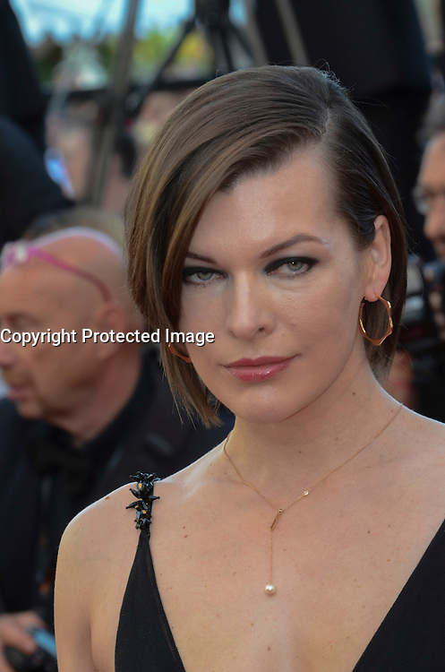 Milla Jovovich attends 'The Last Face' Premiere during the 69th annual Cannes Film Festival at the Palais des Festivals on May 20, 2016 in Cannes, France.