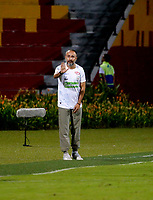 BUCARAMANGA - COLOMBIA, 21-09-2018: Flabio Robatto, técnico de Jaguares F. C., durante partido entre Atlético Bucaramanga y Jaguares F. C., de la fecha 11 por la Liga Aguila II 2018, jugado en el estadio Alfonso López de la ciudad de Bucaramanga. / Flabio Robatto, coach of Jaguares F. C., during a match between Atletico Bucaramanga and Jaguares F. C., of the 11th date for the Liga Aguila II 2018 at the Alfonso Lopez Stadium in Bucaramanga city Photo: VizzorImage / Oscar Martínez / Cont.