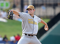 August 17, 2008: Lucas Luetge of the West Virginia Power, Class A affiliate of the Milwaukee Brewers, in a game against the Greenville Drive at Fluor Field at the West End in Greenville, S.C. Photo by:  Tom Priddy/Four Seam Images