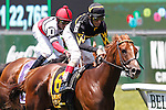 June 7, 2014: Undrafted, John Velazquez up, wins the 31st running of the Grade III Jaipur Invitational, six furlongs on the inner turf at Belmont Park , Elmont, NY Trainer is Wesley Ward.  ©Joan Fairman Kanes/ESW/CSM