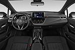 Stock photo of straight dashboard view of 2019 Toyota Corolla SE 5 Door Hatchback Dashboard