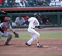 Lucius Fox of the Peoria Javelinas plays in the 2018 Arizona Fall League championship game won by the Peoria Javelinas, 3-2 in 10 innings, over the Salt River Rafters at Scottsdale Stadium on November 17, 2018 in Scottsdale, Arizona (Bill Mitchell)