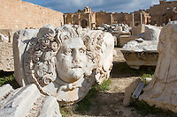 Leptis Magna, Libya - Medusa Head, Severan Forum, 3rd. Century