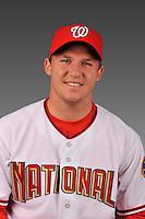 14 March 2008: ..Portrait of Travis Reagan, Washington Nationals Minor League player at Spring Training Camp 2008..Mandatory Photo Credit: Ed Wolfstein Photo