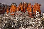 Winter Storm at Coffee Pot Rock, Sedona, Arizona.