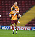:: MOTHERWELL'S STEPHEN JONES CELEBRATES SCORING THE FIRST  ::.11/05/2011 sct_jsp002_motherwell_v_kilmarnock     .Copyright  Pic : James Stewart.James Stewart Photography 19 Carronlea Drive, Falkirk. FK2 8DN      Vat Reg No. 607 6932 25.Telephone      : +44 (0)1324 570291 .Mobile              : +44 (0)7721 416997.E-mail  :  jim@jspa.co.uk.If you require further information then contact Jim Stewart on any of the numbers above.........