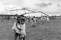 - Mozambique 1993, UN intervention after the Civil War, Italian army helicopter lands near the village of Dondo, Sofala province<br />   <br /> - Mozambico 1993, intervento ONU dopo la guerra civile, elicottero dell'esercito italiano atterra presso il villaggio di Dondo, provincia di Sofala