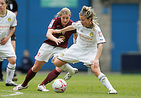 Arsenal vs Leeds United - Womens FA Cup Final at Millwall Football Club - 01/05/06 - Arsenal's Kelly Smith keeps a close eye on Sue Smith (right) - (Gavin Ellis 2006)