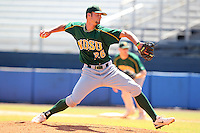 North Dakota State Bisons Simon Anderson #26 during a game vs Bradley Braves at Chain of Lakes Park in Winter Haven, Florida;  March 17, 2011.  Bradley defeated North Dakota State 6-5.  Photo By Mike Janes/Four Seam Images