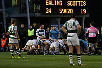 Matrch action during the Greene King IPA Championship match between Ealing Trailfinders and London Scottish Football Club at Castle Bar , West Ealing , England  on 19 January 2019. Photo by Carlton Myrie/PRiME Media Images