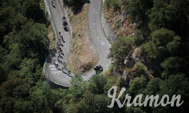 The elite Tour contenders' group up the Lacets de Montvernier (2C/782m/3.4km, 8.2%)<br /> <br /> stage 18: Gap - St-Jean-de-Maurienne (187km)<br /> 2015 Tour de France