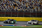 NASCAR XFINITY Series<br /> Drive for the Cure 300<br /> Charlotte Motor Speedway, Concord, NC<br /> Saturday 7 October 2017<br /> Daniel Suarez, Juniper Toyota Camry and Erik Jones, Main Street Bistro Toyota Camry<br /> World Copyright: Nigel Kinrade<br /> LAT Images