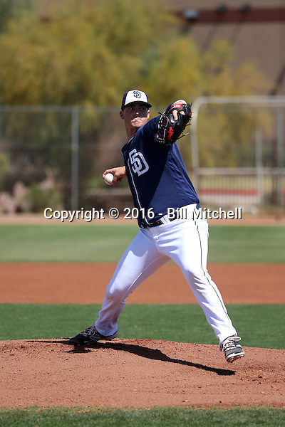 Jake Nix / Jacob Nix - San Diego Padres 2016 spring training (Bill Mitchell)