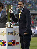 CHICAGO, ILLINOIS - JULY 07: Marcelo Balboa during the 2019 CONCACAF Gold Cup Final match between the United States and Mexico at Soldier Field on July 07, 2019 in Chicago, Illinois.