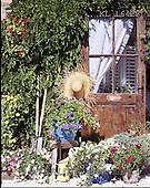Interlitho, FLOWERS, BLUMEN, FLORES, photos+++++,flowers,door,sunhat,KL16423,#f#