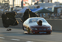 Jul, 9, 2011; Joliet, IL, USA: NHRA pro stock driver Mark Hogan during qualifying for the Route 66 Nationals at Route 66 Raceway. Mandatory Credit: Mark J. Rebilas-