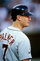 Dean Palmer of the Detroit Tigers during a game against the Anaheim Angels at Angel Stadium circa 1999 in Anaheim, California. (Larry Goren/Four Seam Images)