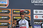 Rui Costa (POR) UAE Team Emirates at sign on before the start of the 99th edition of Milan-Turin 2018, running 200km from Magenta Milan to Superga Basilica Turin, Italy. 10th October 2018.<br /> Picture: Eoin Clarke | Cyclefile<br /> <br /> <br /> All photos usage must carry mandatory copyright credit (© Cyclefile | Eoin Clarke)