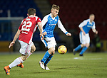 St Johnstone v Hamilton Accies…28.03.18…  McDiarmid Park    SPFL<br />George Williams is closed down by Darren Lyon<br />Picture by Graeme Hart. <br />Copyright Perthshire Picture Agency<br />Tel: 01738 623350  Mobile: 07990 594431
