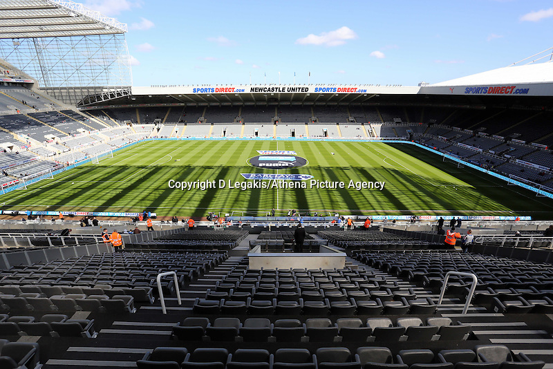 Pictured: Interior view of St James Park. Saturday 19 April 2014<br /> Re: Barclay's Premier League, Newcastle United v Swansea City FC at St James Park, Newcastle, UK.