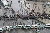 Nazi-Demo in Leipzig am 16.10.2010.Im Bild: Blick vom Wintergartenhochhaus.. Foto: Karoline Maria Keybe , 01577 7729355, karoline@karoline-maria.com, Steuernummer: 231/238/07774..Deutsche Bank, Konto-Nr. 1272228, BLZ 86070024.Keine Umsatzsteuerpflicht nach Kleinunternehmerregelung § 19 Absatz 1 UStG.