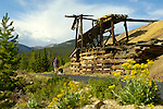 The Mineral Belt Trail makes an 11.6-mile loop around Leadville and gives hikers and bikers an up-close view of several old mining opperations, including the famous Matchless Mine. The trail also features dozens of interpretive signs. © Michael Brands. 970-379-1885.