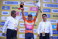 TUNJA - COLOMBIA, 13-02-2020: Jonathan Caicedo (ECU) EF EDUCATION FIRST líder de la general después de la tercera etapa del Tour Colombia 2.1 2020 con un recorrido de 177,7 km que se corrió entre Paipa y Sogamoso, Boyacá. / Jonathan Caicedo (ECU) EF EDUCATION FIRST general leader after the third stage of 177,7 km as part of Tour Colombia 2.1 2020 that ran between Paipa and Sogamoso, Boyaca.  Photo: VizzorImage / Darlin Bejarano / Cont