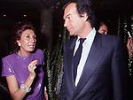 ANNA CRAXI E BEPPE PIRODDI<br /> FESTA ENRICO COVERI<br /> CAFFE' ROMA - MILANO 1984
