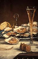Europe/France/Champagne-Ardenne/51/Marne/Ay: Maison de Champagne Deutz - Détail d'un tableau de la salle à manger - Huitres et Champagne