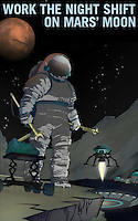 Work the Night Shift on Mars Moon