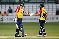 Jimmy Neesham (L) and Ryan ten Doeschate of Essex during Essex Eagles vs Hampshire Hawks, Vitality Blast T20 Cricket at The Cloudfm County Ground on 11th June 2021