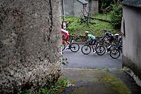 Green Jersey / points leader Mark Cavendish (GBR/Deceuninck - Quick Step) escorted up the Col de Portet-d'Aspet <br /> <br /> Stage 16 from El Pas de la Casa to Saint-Gaudens (169km)<br /> 108th Tour de France 2021 (2.UWT)<br /> <br /> ©kramon