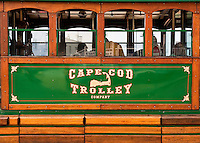 Cape Cod sightseeing trolly, Woods Hole, Cape Cod, MA, Massachusettes