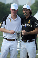 NEW YORK - JUNE 27: HRH Prince Harry competes during the 3rd annual Veuve Clicquot Polo Classic on Governors Island on June 27, 2010 in New York City.<br /> <br /> People:  Prince Harry_Nacho Figueras