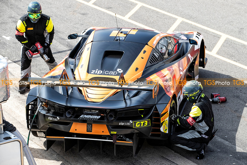 Morgan Tillbrook & Marcus Clutton, McLaren 720S GT3, Enduro Motorsport in the pit land in qualifying during the British GT & F3 Championship on 10th July 2021