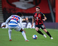 Bournemouth's Adam Smith (left) under pressure from Queens Park Rangers' Osman Kakay (right) <br /> <br /> Photographer David Horton/CameraSport<br /> <br /> The EFL Sky Bet Championship - Bournemouth v Queens Park Rangers - Saturday 17th October 2020 - Vitality Stadium - Bournemouth<br /> <br /> World Copyright © 2020 CameraSport. All rights reserved. 43 Linden Ave. Countesthorpe. Leicester. England. LE8 5PG - Tel: +44 (0) 116 277 4147 - admin@camerasport.com - www.camerasport.com