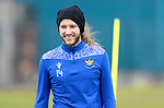 St Johnstone Training....24.02.21<br />A happy Stevie May pictured during training at McDiarmid Park ahead of Sunday's BETFRED Cup Final against Livingston at Hampden Park.<br /><br />Picture by Graeme Hart.<br />Copyright Perthshire Picture Agency<br />Tel: 01738 623350  Mobile: 07990 594431