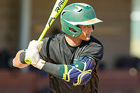 South Hills Huskies Shortstop Brandon Dieter (9) during his at bat during the game between the South Hills Huskies and the Carter Lions at Mt. San Antonio Community College on February 24, 2018 in Walnut, California during the Frozen Ropes Classic.  (Donn Parris/Four Seam Images)