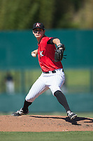 Kannapolis Intimidators relief pitcher Danny Dopico (29) in action against the Asheville Tourists at Kannapolis Intimidators Stadium on May 7, 2017 in Kannapolis, North Carolina.  The Tourists defeated the Intimidators 4-1.  (Brian Westerholt/Four Seam Images)