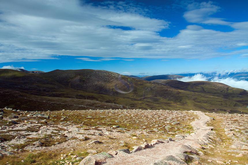 The Cairngorm National Park from Cairn Gorm, Cairngorm National Park, Badenoch & Speyside