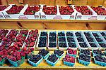 Fresh picked berries at Avila Valley Barn, farm stand and petting zoo in Avila Valley, San Luis Obispo County, California