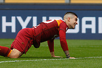 Roma's Gianluca Mancini reacts during the Italian Serie A Football match between Roma and Genoa at Rome's Olympic stadium, March 7, 2021.<br /> UPDATE IMAGES PRESS/Riccardo De Luca
