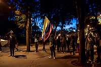 BOGOTA - COLOMBIA, 26-11-2019: En el sexto día de paro nacional, se presentaron fuertes enfrentamientos en la universidad nacional entre estudiantes y la fuerza pública, rechazando el asesinato del joven Dilan Cruz y las politicas del nuevo gobierno / In the 6th day of the national strike, strong clashes were presented in the national university in Bogotá, between students and members of the police, rejecting the murder of the young man Dilan Cruz and the new politics of the government of Ivan Duque  . Photo: VizzorImage / Nicolas Aleman / Cont