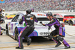 Sprint Cup Series driver Denny Hamlin (11) in action during the Nascar Sprint Cup Series Duck Commander 500 race at Texas Motor Speedway in Fort Worth,Texas.