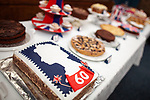 © Joel Goodman - 07973 332324 . 03/06/2012 . Manchester , UK . Queen's Diamond Jubilee cake baking competition at St Dunstan's RC church , Moston Road , Moston . Photo credit : Joel Goodman