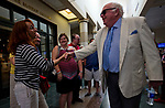 SARATOGA SPRINGS, NY - AUG 13: Tom Durkin leads a tour of the Racing Hall of Fame at the National Museum of Racing and Hall of Fame at the Inaugural Equestricon Convention on August 13, 2017 in Saratoga Springs, New York. photo by Eclipse Sportswire/Equestricon